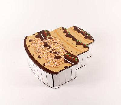 """Коробка """"Тортик"""" коричневий маленька"""