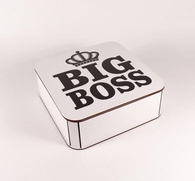 """Коробочка біла """"Big Boss"""" корона"""